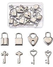 PandaHall Legering Sleutel Charmes Hanger Vintage Skelet Key Hangers voor DIY Sieraden Craft Maken
