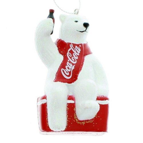 - Kurt S. Adler YAMCC1124 Coca-Cola Polar Bear Ornament, 3.5