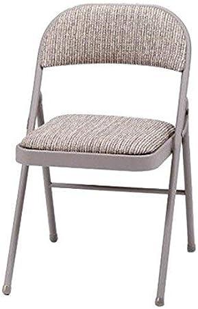 Chaise pliante avec cadre en métal en acier résistant et dossier rembourré avec revêtement en tissu deluxe, pour maison, jardin, bureau, et table