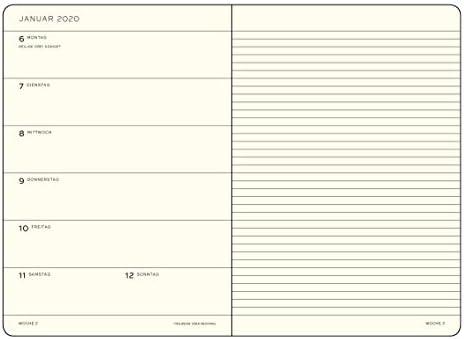 Agenda y cuaderno de notas 2020, tapa dura de bolsillo (A6 ...