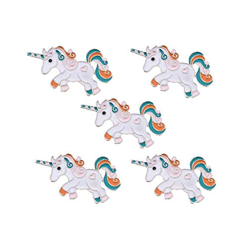 MJartoria Animal Cactus Dinosaur Patch Cartoon Brooch Pin Badges Set for Clothes Bags Backpacks (Unicorn 5pcs 2)