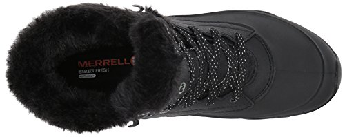 Merrell Womens Aurora 6 Ice Plus Waterproof Snow Boot Black