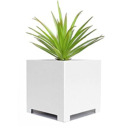 Amazon Com Alora Cube Planter Extra Large White 23 X 23 X