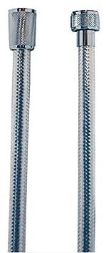 Brauseschlauch | Duschschlauch | Kunststoff | Chrom | Beidseitig mit Konus | 1, 50 m AquaSu 72557 6