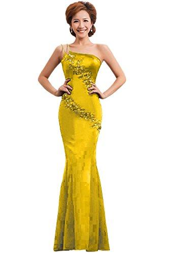 Abendkleid Mermaid formale mit One Gold Emily Shoulder Beauty qwUSzOXvw