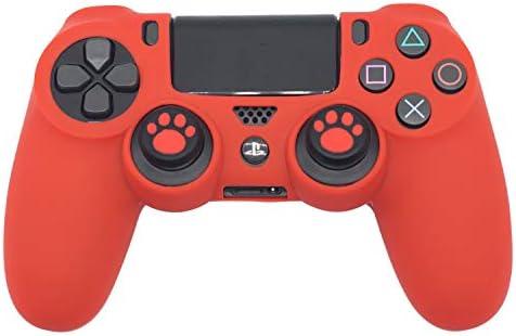 BRHE DualShock - Funda de Silicona Antideslizante para Mando de Videojuegos Sony Playstation 4/PS4 Slim/PS4 Pro con 2 Tapas de Agarre para el Pulgar: Amazon.es: Electrónica