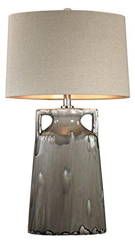 Grey Reaction Glaze Urn Lamp (Glaze Urn)