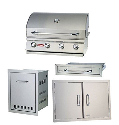 Bull Outdoor Propane Outlaw Drop-in Barbecue Grill with Accessory Package (Kitchen For Gas Grill Outdoor)