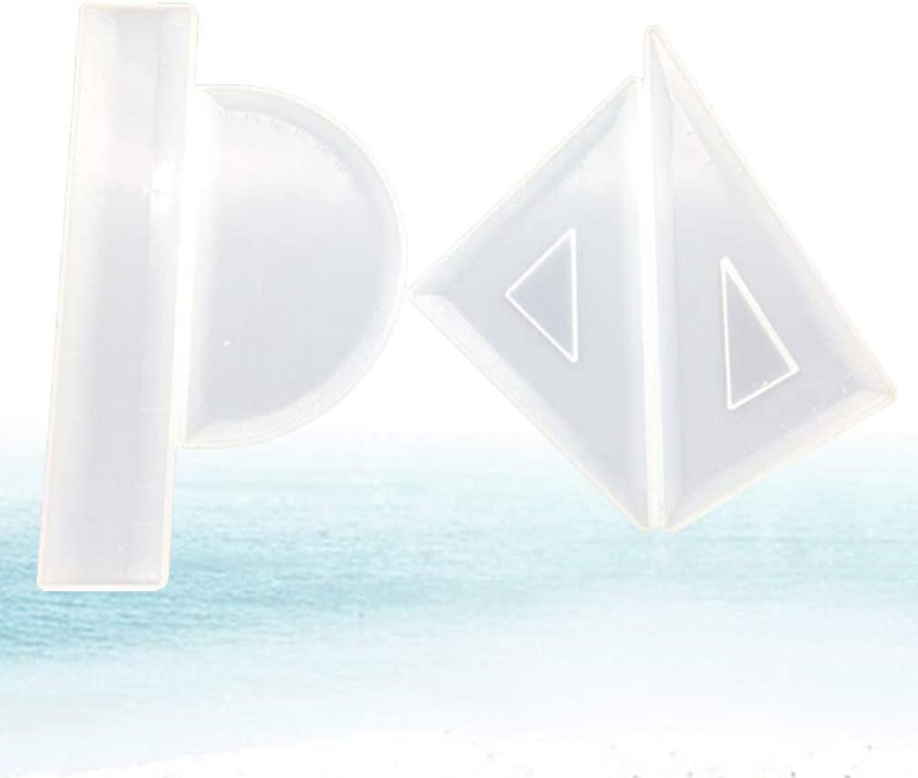 Wuwowu Ruler Resin Mold Epoxy Silicone Mould Making Tool Handmade Stationery Straightedge Protractor Triangular Rule Crystal Glue