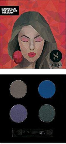 SUGAR Cosmetics Blend The Rules Eyeshadow Quad 09 Diamonds, 5 g