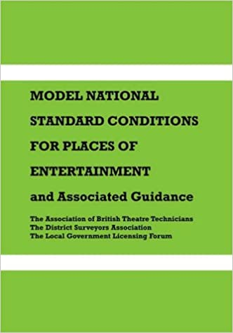 Read Model National Standard Conditions for Places of Entertainment: And Associated Guidance PDF