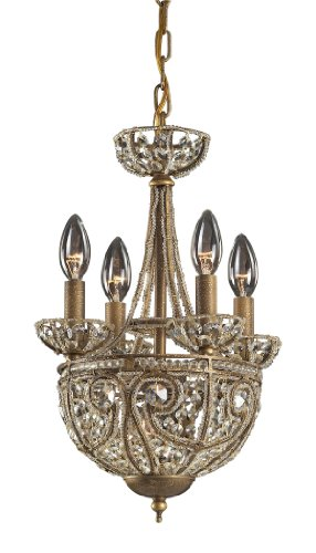 Elk Elizabethan 5-Light Chandelier, Dark Bronze