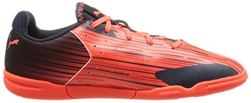 Puma Meteor Sala LT Jr - zapatillas de fútbol de material sintético Niños^Niñas naranja - Orange (lava blast-total eclipse 01)