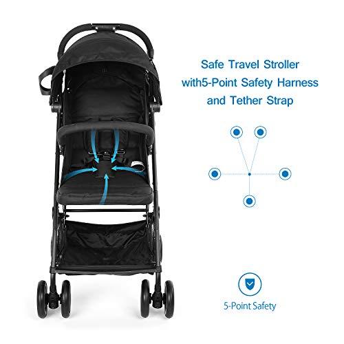 Katze-Tatze - Cochecito de bebé plegable para cochecito de bebé con mosquitera para la lluvia o para la parte delantera, ligero, para bebés y bebés de viaje ...