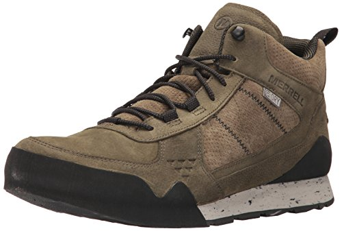 Merrell Men's Burnt Rock Mid Waterproof Fashion Sneaker, Dusty Olive, 10.5 M US (Merrell Mens Casual Shoes)