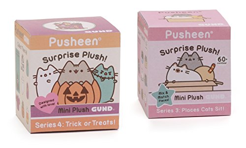 GUND Pusheen Halloween Blind Box Series 4 Bundle Places Cats Sit Blind Box Series 3 -