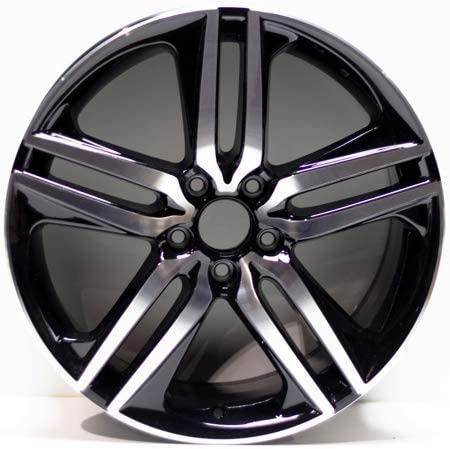 64127 Reconditioned OEM Factory Aluminum 19x8.5 Wheel Machined w//Black