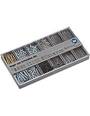 Metafranc assortimentsdoos – voorgesorteerde onderdelen in praktische kunststof doos – geschikt voor huis, werkplaats & Co. / assortimentsdoos/klein ijzerassortiment