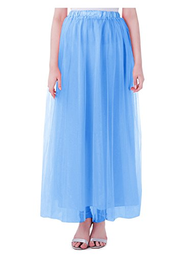 Blue 2 Satin Skirt - 8