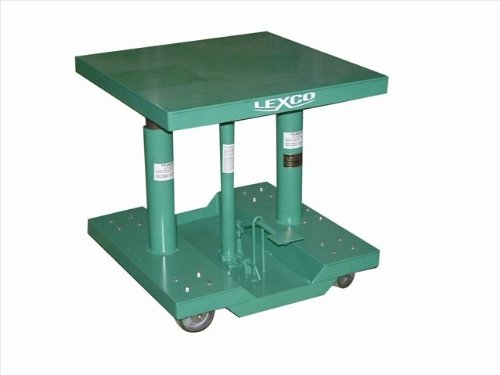 Wesco-Industrial-Products-492236-Steel-Foot-Operated-Hydraulic-Lift-Table-with-Drop-Base-500-lb-Capacity-30-x-20-Tabletop-40-Height