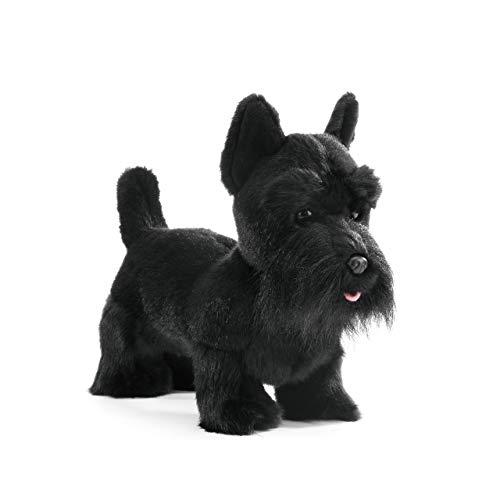 DEMDACO Black Scottish Terrier Children's Plush Beanbag Stuffed Animal Toy