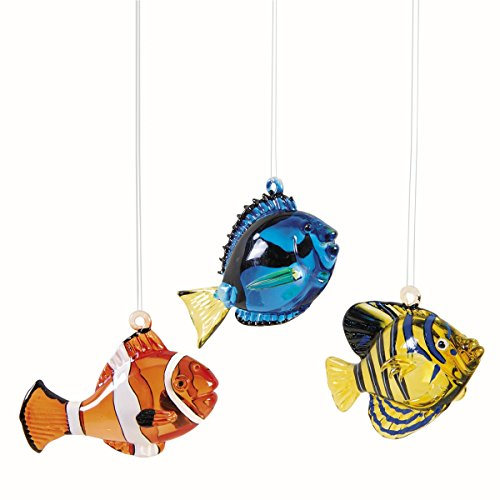 Glass Tropical Fish Orn., A/3