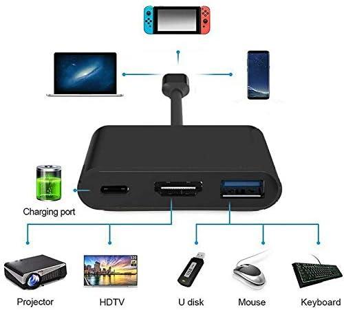 Adaptateur HDMI 1080P 4K Durable de Conception exceptionnelle pour Adaptateur Nintend Switch USBC HDMI Type-C hub