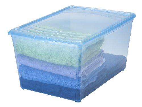 IRIS 64 Quart Modular Storage Box, 8 Pack, Blue