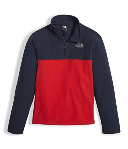 The North Face Red Fleece (The North Face Boy's Glacier 1/4 Zip Fleece Pullover - TNF Red/Cosmic Blue - L (Past Season))