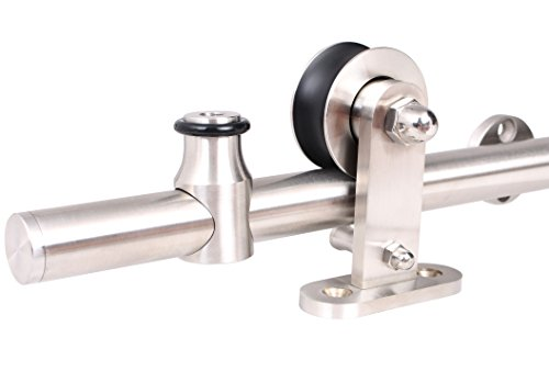 TMS TYS2503B-SS Interior Modern Sliding Barn Wood Door Hardware Track Set, Stainless Steel