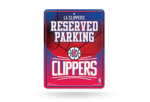 [NBA Los Angeles Clippers Metal Parking Sign] (Rico Los Angeles Clippers)