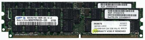 4GB (2x2GB) Sun Fire T1000/T2000 Chipkill Server Memory (p/n X7802A) by ()