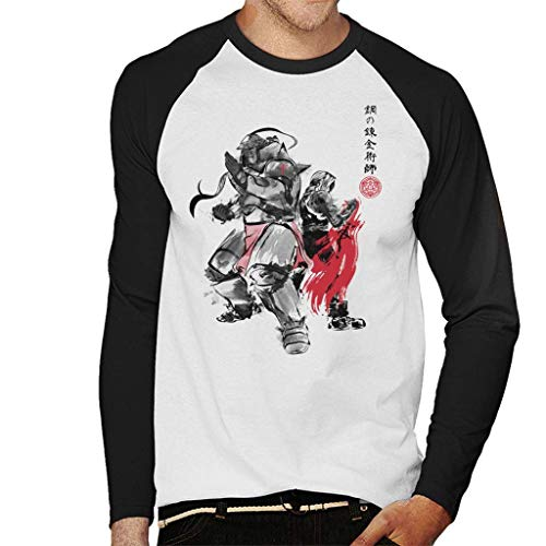 Brotherhood Japan Full Metal Alchemist Men's Baseball Long Sleeved T-Shirt
