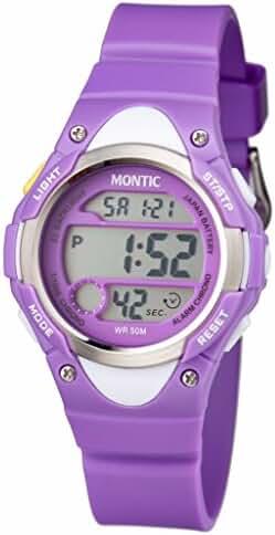 Montic Kids Purple Multi Function Digital Sports Watch