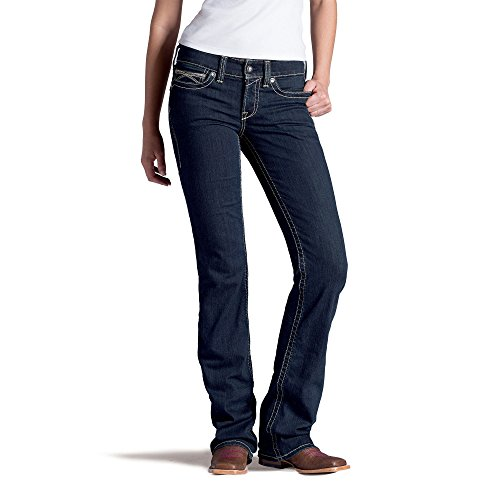 Ariat Women's R.E.A.L. Riding Mid Rise Boot Cut Jean, Eclips