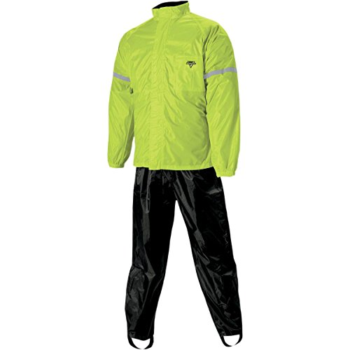 Nelson Rigg WeatherPro Rainsuit, 2 Piece (Black/Hi-Visibility Yellow, Large)