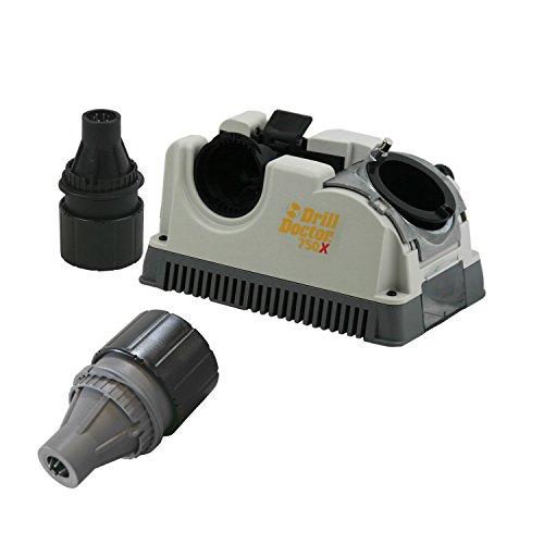 Doctor Drill Sharpener (Drill Doctor DD750X Drill Bit Sharpener w/ Case, and DA02105PF Left Handed Chuck)