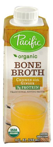 Pacific Natural Foods Organic Bone Broth Chicken with Ginger -- 8 fl oz - 2 pc