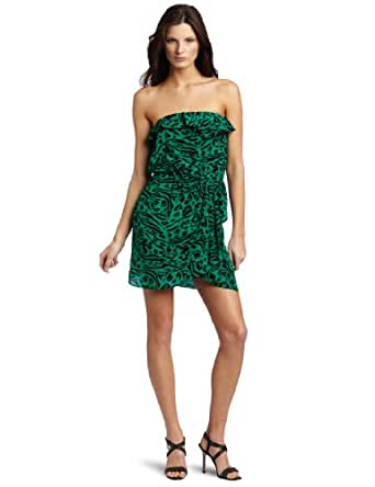 Amanda Uprichard Women's Ava Dress, Green Animal, Large
