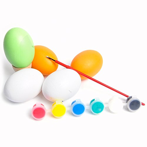 aGreatLife DIY Painting Egg Toy For Children - Best Educational Egg Decorating Kit for Kids- With Free Brush and Watercolor Paint - Great Party Favors and Ornaments (Lets Make A Deal Props compare prices)