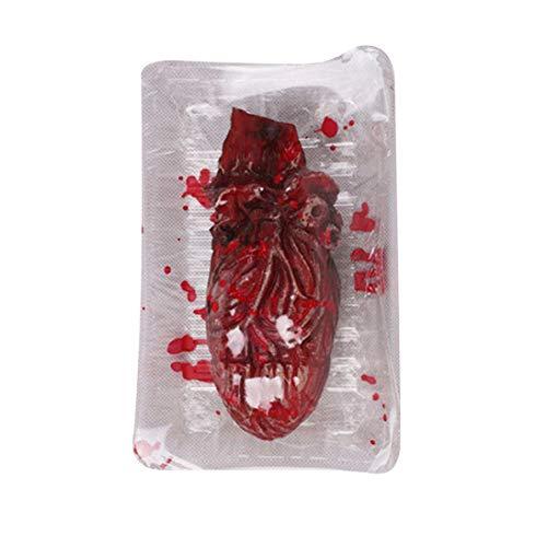 Children Toys,Dartphew 1Pcs Halloween Fake Heart Brain Organ Haunted House Blood Horror Props Trick - Gift for Kids Baby Boys Girls Halloween Costume Party Props - Environmental Latex(Horror) (C)