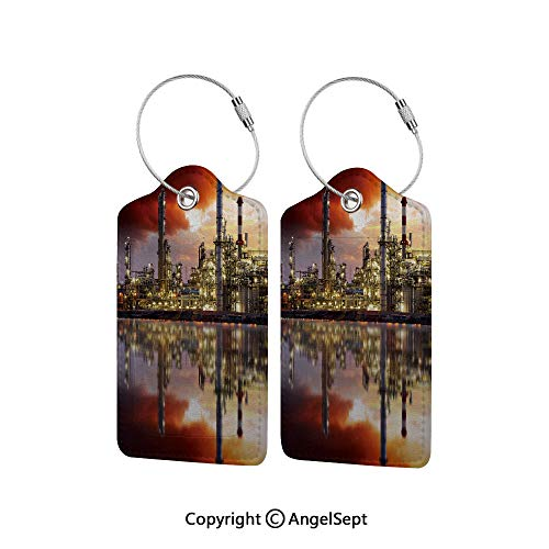 Flexible Travel Leather Luggage Tag,Oil Refinery Petrochemical