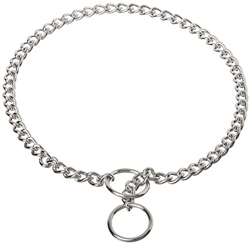 Coastal Pet Products DCP552018 18-Inch Titan Fine Chain Dog Training Choke/Collar with 2mm Link, Chrome (Chain Choke Fine)