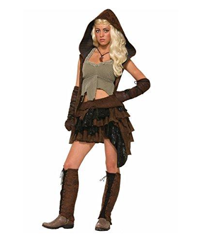 [Rogue Warrior Womens Costume deluxe] (Womens Elf Warrior Costume)