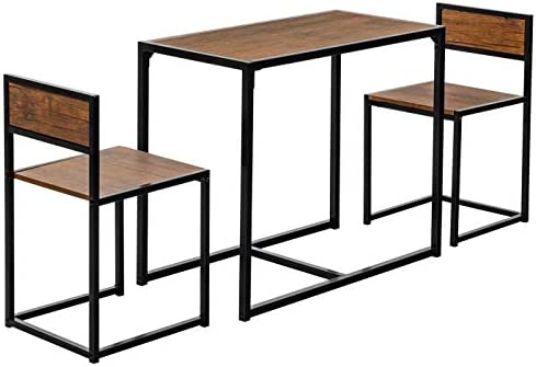 3-Piece Table and Chair Set – Compact Dining...
