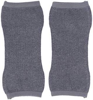 Exceart 2 Stücke Winter Knie Ärmel Kaschmir Knie Warme Klammern Elastische Kurze Knieschützer Kaltem Wetter Knie Bein Ärmel für Männer Frauen Größe M