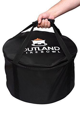 Outland Firebowl UV and Weather Resistant 760 Standard Carry Bag, Fits 19-Inch Diameter Outdoor Portable Propane Gas Fire - Cover Chrome Propane