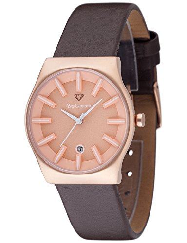 Yves Camani Louanne Womens Watch Quartz Analog Rosegold Brown Stainless Steel YC1079-C
