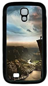 ka ka case unique Individuality Edge Of The World Norway Custom Designer Samsung Galaxy S4 Case and Cover - TPU - Black