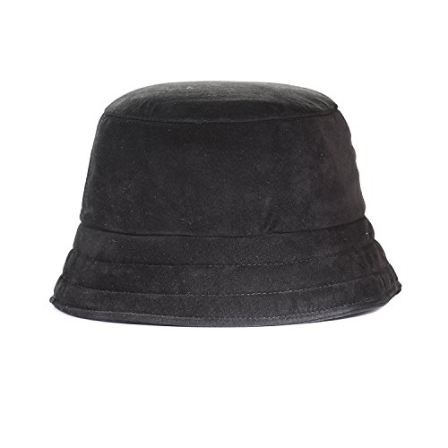PSO Genuine Suede Leather Bucket Hat, Made In USA ()